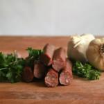 smoked meat beef sticks garlic