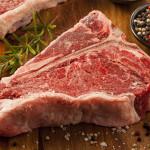 fresh beef t-bone steak