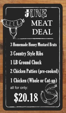 MEAT DEAL - June - NO Layers
