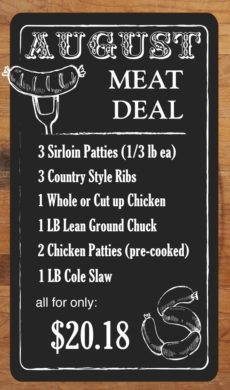 MEAT DEAL - August